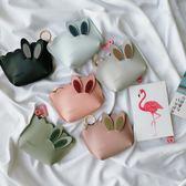 零錢包 韓版可愛兔耳朵零錢包粉嫩少女心卡通小包包創意迷你收納包硬幣包 唯伊時尚