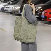 帆布袋 側背包 做舊 褶皺 輕便 手提包 帆布包 環保購物袋-手提/單肩包【AL167】 icoca  09/20