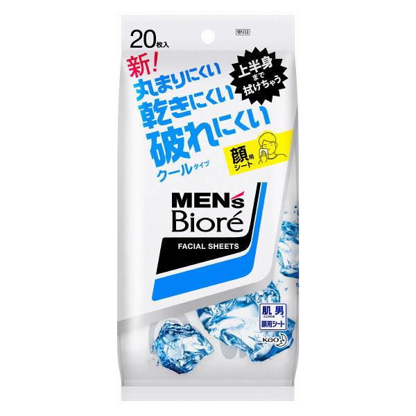 花王 Kao Men's Biore 清涼冷感濕紙巾38片入桌上包