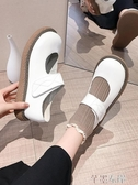 新品娃娃鞋娃娃鞋女圓頭森系韓版百搭秋季網紅軟妹日系jk大頭小皮鞋 芊墨左岸
