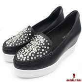 【Nami&Yami】㊣日本空運✈華麗水鑽內增高厚底鞋(黑)