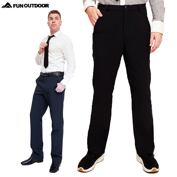 德國原創男款超彈多口袋抓絨禦寒防風防潑水軟殼保暖褲(HMP015 兩色可選)【 戶外趣-年度新款 】
