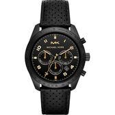MICHAEL KORS 三眼計時手錶-黑/43mm MK8705