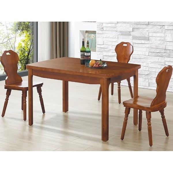 餐桌 CV-755-3 威靈頓柚木餐桌 (不含椅子) 【大眾家居舘】