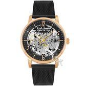 【台南 時代鐘錶 Kenneth Cole】KC50054008 美式潮流 雅痞氣質品味鏤空機械腕錶 米蘭帶 玫瑰金 43mm