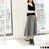 《CA1112》俐落剪裁修身純色壓紋長裙--適 XL~6L OrangeBear