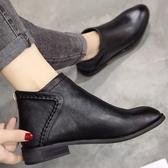 DE shop - 馬丁靴英倫風百搭短靴平底裸靴 - NN-5100