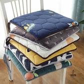 坐墊增高學生毛絨四季可拆座墊餐椅墊防滑椅子【愛物及屋】