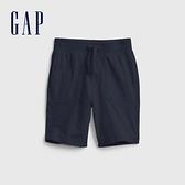 Gap男幼童 布萊納系列 純棉簡約風運動褲 671575-藏青色