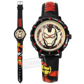 Disney 迪士尼 / MV-81063B / 漫威系列 鋼鐵人 復仇者聯盟 兒童錶 卡通錶 皮革手錶 米x黑 31mm