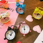 創意少女臥室簡約學生迷你可愛鬧鐘桌面拍照擺件迷你小號鬧鐘 熊熊物語
