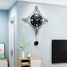 時尚鐘錶掛鐘客廳創意歐式個性網紅掛錶現代簡約家用掛墻裝飾時鐘  【端午節特惠】