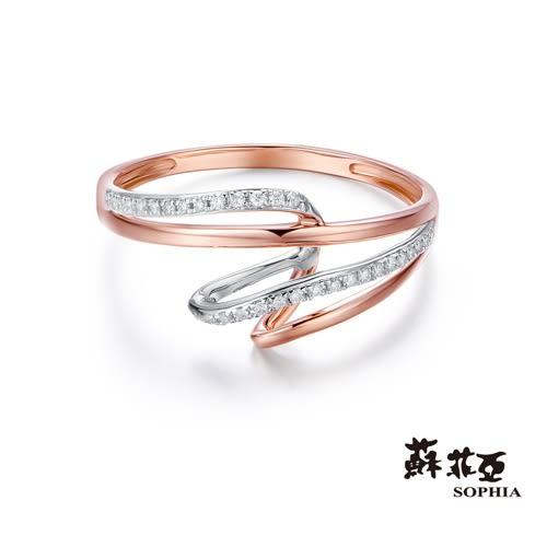 蘇菲亞SOPHIA - 雙色漩渦鑽石戒指