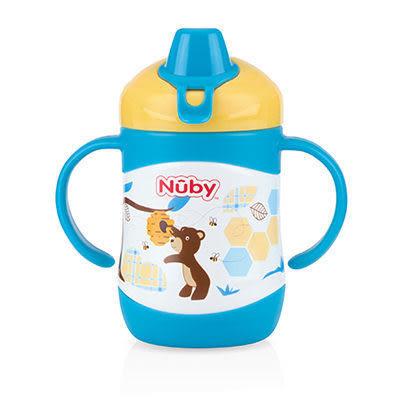 Nuby 學習杯-鴨嘴配件 (Nuby 不銹鋼真空雙耳把手鴨嘴學習杯 220ml-藍熊)【佳兒園婦幼館】