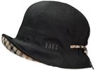 DAKS【日本代購】女款帽子 防紫外線 春夏麻質 黑色-D7112