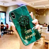 ~SZ24 ~ins 風祖母綠手機殼 水鑽氣囊支架保護套iphone XS MAX 手機殼iphone XS 手機殼8plus 保護套