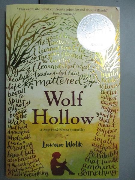 【書寶二手書T5/少年童書_GDJ】Wolf Hollow_Wolk, Lauren