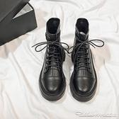 短靴黑色馬丁靴新款秋季百搭短靴網紅英倫風ins潮短筒秋款女鞋 阿卡娜
