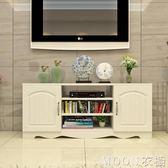 簡約現代電視櫃歐式鋼化玻璃客廳茶幾組合小戶型迷你地櫃視聽櫃子YYJ   MOON衣櫥