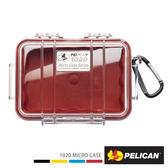 美國 PELICAN 1020 Micro Case 微型防水氣密箱-透明 紅色 公司貨