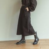 Queen Shop【03020773】側口袋綁帶設計長裙 兩色售 S/M/L*現+預*