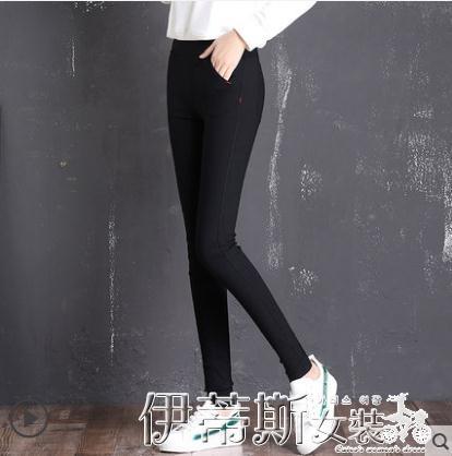 窄管褲打底褲女外穿新款緊身魔術高腰顯瘦仿牛仔小腳黑色春秋冬 春季特賣