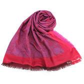 Christian Dior 時尚滿版玫瑰大羊毛薄披肩(桃紅色)173003