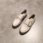 英倫復古女娃娃鞋 春秋chic平底圓頭單鞋軟底小皮鞋女英倫復古風牛津鞋布洛克鞋 99