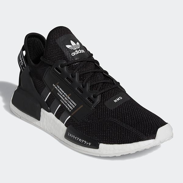 【現貨】Adidas NMD_R1 V2 男鞋 女鞋 慢跑 休閒 襪套 BOOST 日文 黑【運動世界】GW7690