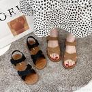涼鞋 涼鞋2021年新款女夏平底ins潮魔術貼百搭軟底舒適休閒沙灘羅馬鞋 618購物節