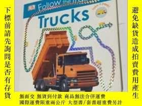 二手書博民逛書店Follow罕見the Trail Trucks 英文兒童讀物 紙板書Y343790 DK DK ISBN:9