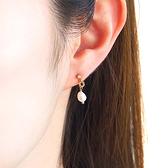[現貨] itam 日本製 金屬環珍珠鈦柱耳環/耳針 (P614)