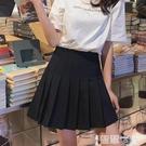 百摺裙 黑色百摺裙女2021春夏季新款高腰a字短裙白學院風灰色西裝半身裙A 【99免運】