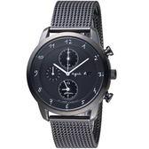 agnes b.法式風格三眼計時腕錶    V172-KKC0SD BY6007P1