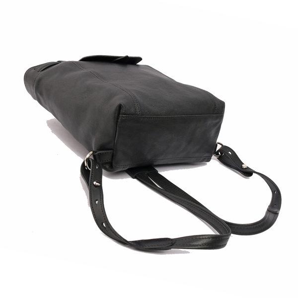 【LONGCHAMP】LE PLIAGE CUIR小羊皮後背包(XS)(黑色) 1306737001