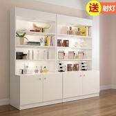 展示櫃 化妝品展示櫃簡約現代展櫃貨櫃陳列櫃美容院櫃子產品貨架展示架·夏茉生活IGO