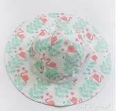 新生兒男女寶寶嬰兒遮陽帽防曬夏款薄款太陽帽紗布兒童漁夫帽子 阿宅便利店