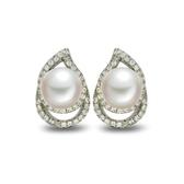 耳環 925純銀鑲鑽-高貴典雅生日情人節禮物女飾品73dm153【時尚巴黎】