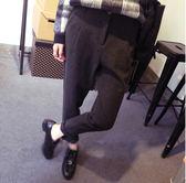 秋冬加厚休閒褲毛呢哈倫褲女蘿卜小腳九分西裝褲子寬鬆顯長褲潮【時尚家居館】