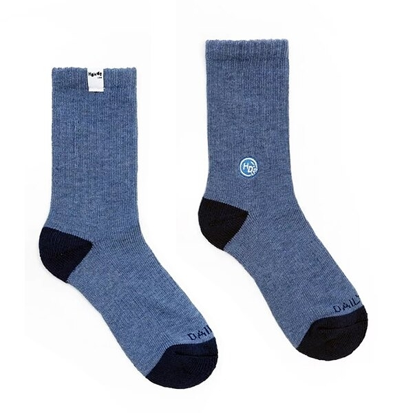 HOWDE LAB 長襪 CLASSIC SOCKS 藍雪花 銀離子抑菌抑臭纖維 中高筒襪 襪子 男女 20FW01BL