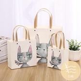 5個裝 禮品袋手提高檔生日卡通小清新白卡紙質簡約禮物袋【白嶼家居】