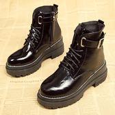 馬丁靴女英倫風學生韓版百搭新款chic短筒靴子秋冬季短靴女鞋 9號潮人館