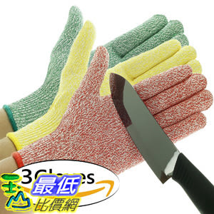 [106美國直購] 切割手套 3 Pack TruChef Cut Resistant Gloves - Maximum Level 5 Protection  尺寸S