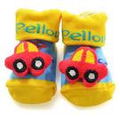 貝柔寶寶手縫公仔鞋型止滑襪(0~18個月)-開心汽車
