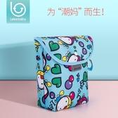尿布包嬰兒床寶寶床頭掛袋紙尿褲收納袋便攜式外出尿不濕袋子  暖心生活館