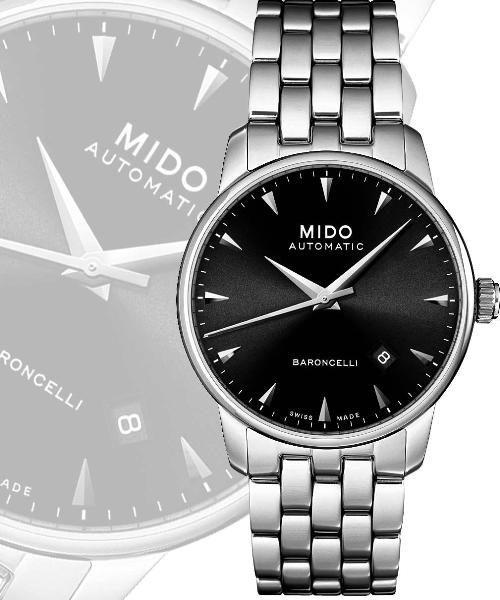 MIDO 美度 Baroncelli 尊爵紳士機械錶-鋼帶 M86004181