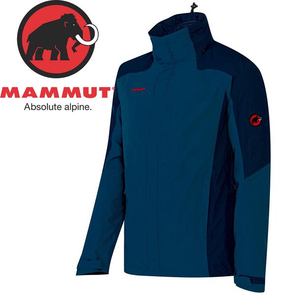 【MAMMUT 男 MA Ayako GORE-TEX 兩件式外套《藍》】1010-14040/兩件式外套/防水外套