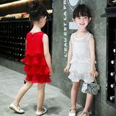 兒童洋裝 夏裝兒童的公主裙2018新款韓版雪紡寶寶裙童裝 AW1345【棉花糖伊人】