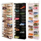 ♚MY COLOR♚  不織布26格鞋子收納掛袋 收納 懸掛 透明 多層 儲物袋 家具 置物 鞋子【N239】