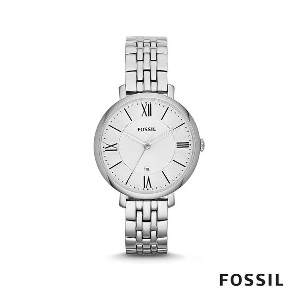 FOSSIL JACQUELINE 簡約不鏽鋼女錶-銀色 36mm